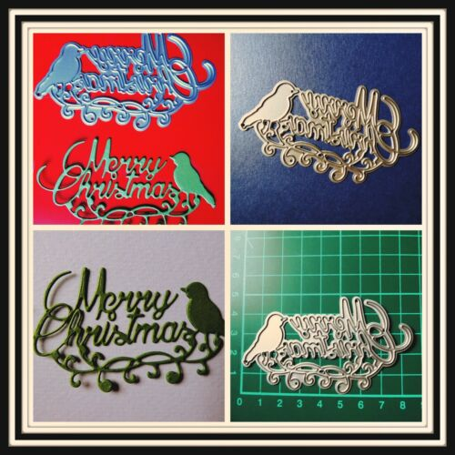 Swirly Merry Christmas /& Bird Metal Cutting Die,Stencil,Craft,Card Making,DIY