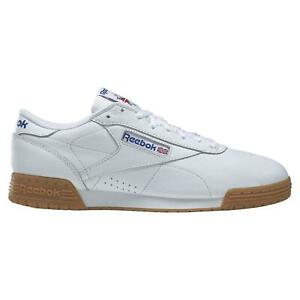 Reebok-Classics-EX-O-FIT-low-clean-Baskets-Baskets-Chaussures-En-Cuir-Blanc-Neuf