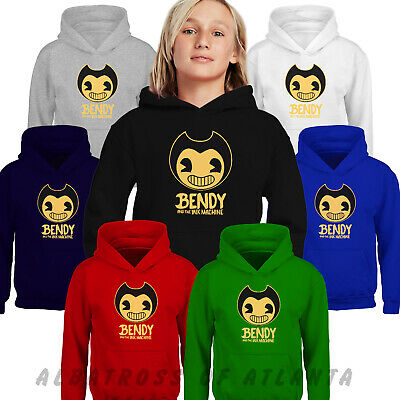 Bendy and The Ink Machine Kids Hoodies Horror Game Costume Pullover T-shirt Top