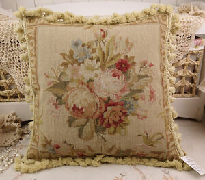 18-034-Vintage-Chic-Shabby-Floral-House-Sofa-Chair-Decorative-Needlepoint-Pillow