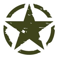 Military Green US American Army Star Car Jeep Bumper Vinyl Decal Sticker Badge.