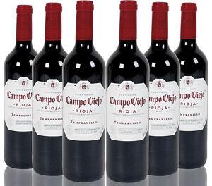 Campo Viejo Tempranillo, Vino Tinto Joven, Rioja, España (Caja de 6)