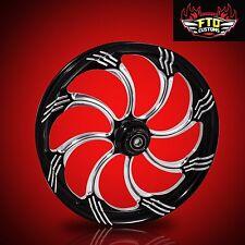 "Harley Davidson 21"" inch Custom Front Wheel ""Slasher"" by FTD Customs"