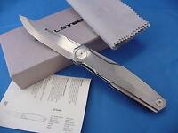 Real Steel G3 Puukko Scandi Knife Frame Lock 14c28n 7811