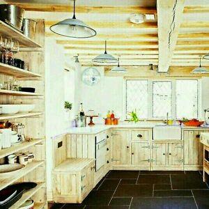 Details About Handmade Period Inspired Belfast Sink Kitchen Cabinets Rustic Cottage Kitchens
