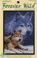 Cross Stitch Kit Janlynn Forever Wild Artic Gray Wolf & Snow 013-0309