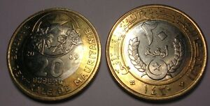 Ingenious Mauretanien 20 Ouguiya 2009 Bimetall Unc To Be Renowned Both At Home And Abroad For Exquisite Workmanship Coins: World Coins & Paper Money Skillful Knitting And Elegant Design