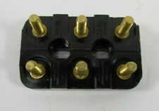 Fiame Electric Motor Terminal Connection Block 70mm X 45mm 3 Pole 6 Stud Brass