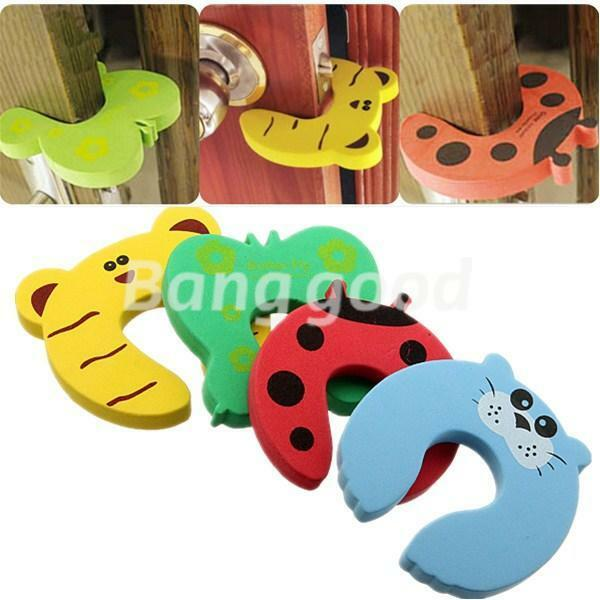 1/4/10Pcs Stop Door Jammers Finger Guard Kid Baby Safety Pinch Protector Stopper