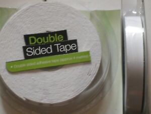 4-PACKS-OF-4m-STRONG-DOUBLE-SIDED-FOAM-TAPE-White-Padded-Adhesive-Fixing