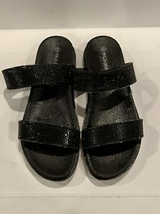 Fashion Nova Wild Diva Sandals Black White Size 8 Ebay