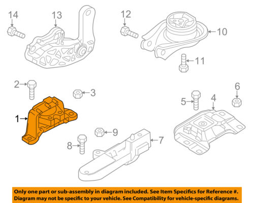 MAZDA OEM 12-14 5-Engine Motor Mount//Torque Strut BBN339060B
