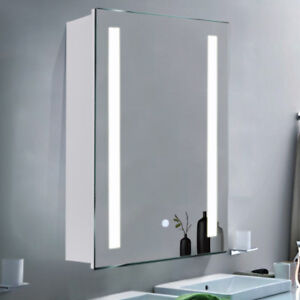 Bathroom Mirror Cabinet Shelf With Led Lights Illuminateddemister
