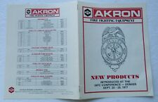 Catalog For Akron Fire Fighting Equipment 1977