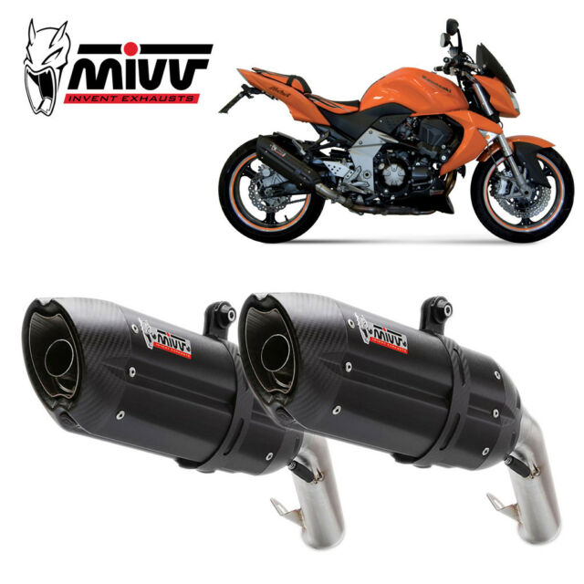 KAWASAKI Z 1000 Exhaust MIVV Suono 2007-2009 Steel Black