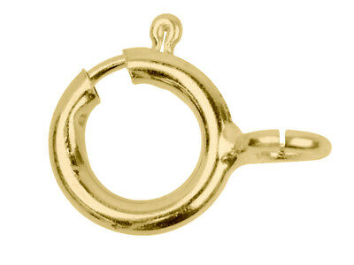 Apertura abierta de 8mm Oro Amarillo 9ct Perno Anillo Cierre Pulsera y Collar de reparación de Reino Unido