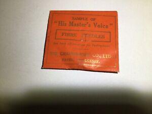 """His Masters Voice "" Fibre Needles. Vintage."