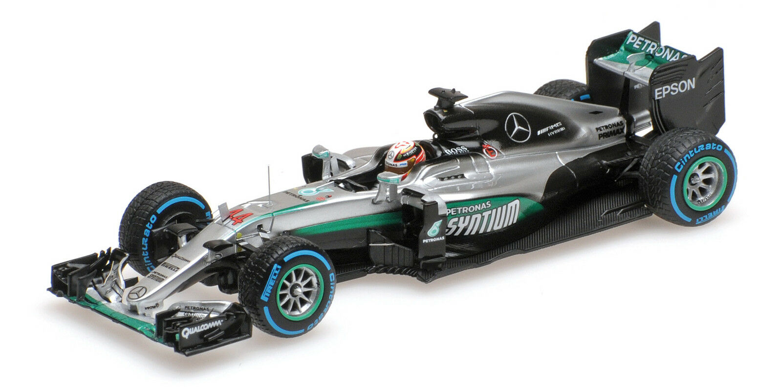 Mercedes Amg W07 Hybrid Lewis Hamilton Winner Brazilian GP 2016 1 43 Model