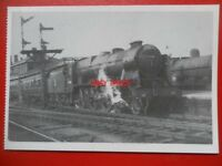 POSTCARD LMS ROYAL SCOT LOCO NO 46160 'QUEENS WESTMINSTER RIFLEMAN' AT STOCKPORT