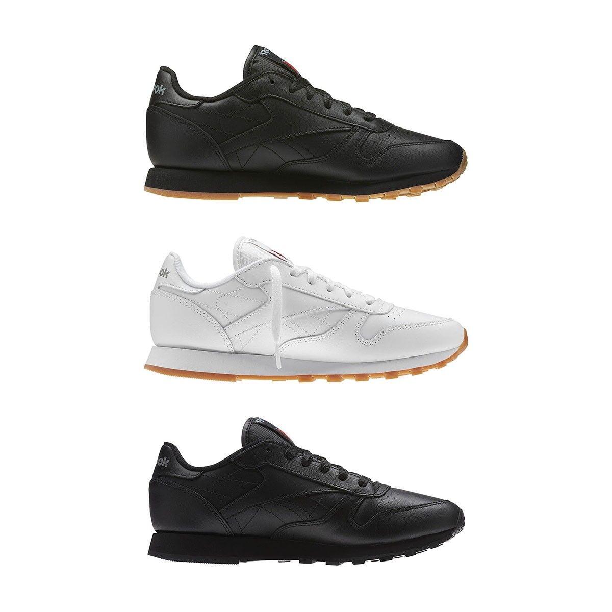 Nuevo Original Reebok Classic Negro blancoo Zapatillas Zapatos Para Correr Hombres ALL TallaS NIB