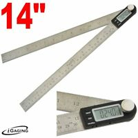 Igaging 14 Protractor Digial Electronic Goniometer Miter Angle Finder Ruler on sale