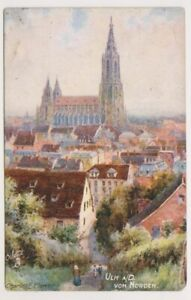 Germany postcard - Ulm a/d von Norden by Charles Flower - Oilette 7634 (A27)