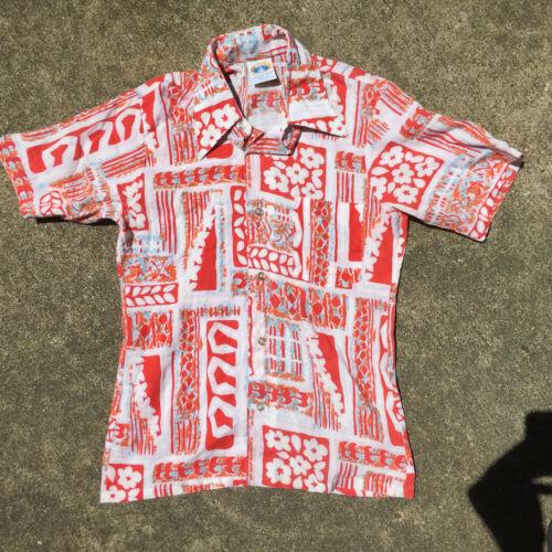 Vintage Kids Youth Rayon Blend Hawaiian Surf Tiki