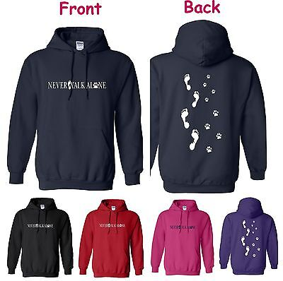 Dog Horse And You Never Walk Alone Hoodie (Back Side)