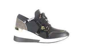 Michael Kors Womens Liv Trainer Black Fashion Sneaker Size 8 (1375028)