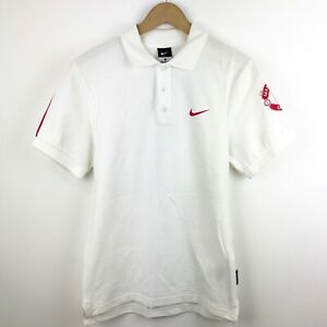 e9ff3847752d4 Nike Manchester United White and Red Collard Polo Shirt Size Small ...