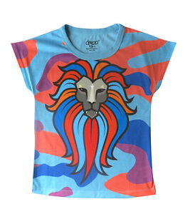 Neon-3d-lionesse-girls-T-shirt-Designed-by-deezo-free-delivery-size-2-12