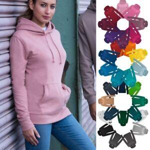 Damen-Hoodie-Pullover-Sweashirt-mit-Kapuze-Gr-XS-XXL-in-30-Farben-JH001F