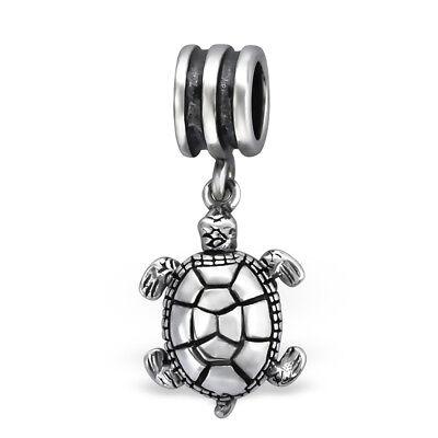 BAMOER Solid 925 Sterling silver Charm Turtle Story Dangle Fit Women bracelet