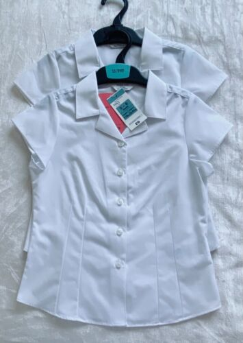 Marks and Spencer repassage facile Filles École Chemises 5 Ans 6 Ans BNWT