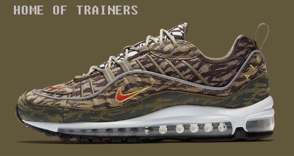 Nike Air Max 98 AOP Pack Khaki Team Orange Medium Olive Camo Men's Trainers