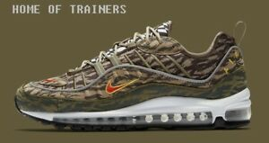 3467afd359123b Nike Air Max 98 AOP Pack Khaki Team Orange Medium Olive Camo Men s ...