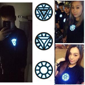 Iron-Man-LED-Light-Sound-Control-T-Shirt-Tony-Stark-Reactor-Women-Men-Tops-Tee