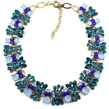 BEAUTIFUL ZARA OPAL BLUE WHITE CLEAR CLUSTER STONES NECKLACE – NEW
