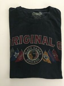 Chicago Blackhawks The Original 6 Old Time Hockey NHL Gray T- Shirt ... 928cac6bc