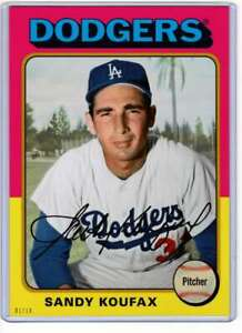 Sandy-Koufax-2019-Topps-Archives-5x7-Gold-122-10-Dodgers