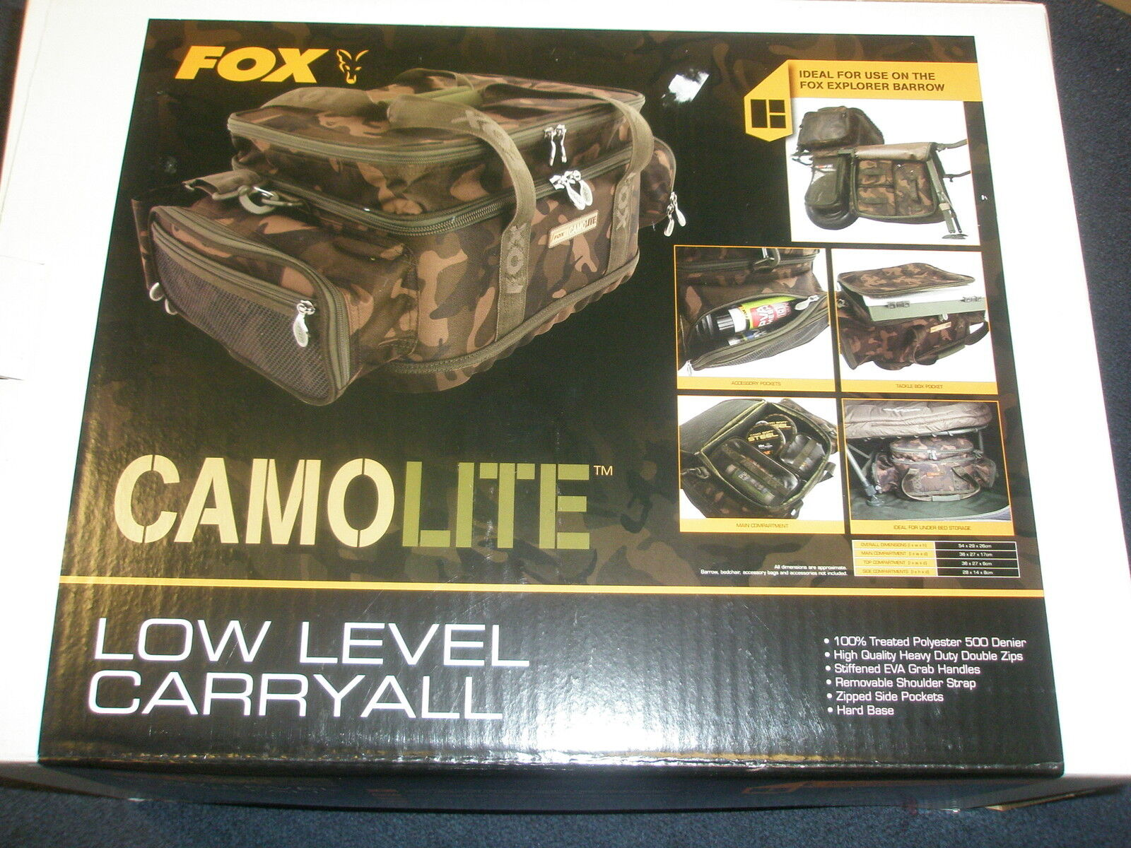 Fox Camolite bajo Nivel Carry All Pesca de Carpa Carpa Carpa Anzuelo 7e8461