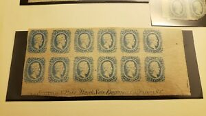 Confederate States Scott #11 plate block of 12 (#CSA11 )