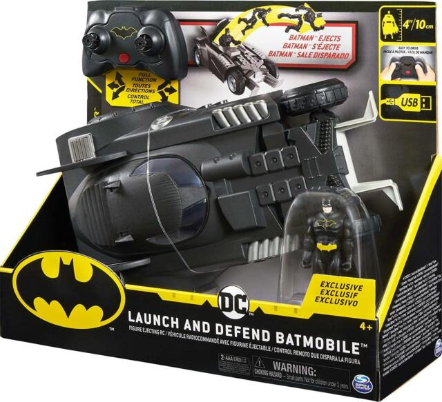 BATMAN Launch and Defend Batmobile Remote Control Vehicle & Action Figure