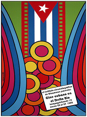 1062.Cuban movie POSTER.Powerful Graphic Design.Cuba Flag.Delta.Room art Decor