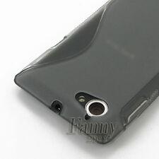 Black Gel TPU Skin Case Cover for Sony Xperia L S36h C2105