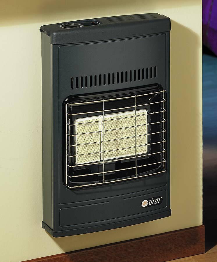 Estufa de Gas Metano Infrarrojo Sicar Eco 40 4200W cm 43x15x64 H Calefacción
