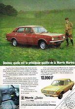 Publicité advertising 1973 Morris Marina 1300