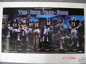 The-Junk-Yard-Dogs-1986-Classic-Poster-Original-Mint-Chicago-Bears