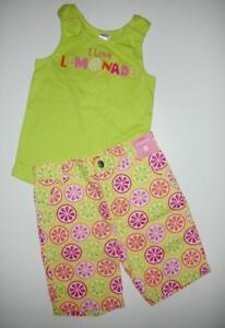 NWT-Gymboree-Citrus-Cooler-I-Love-Lemonade-Lime-Tank-Bermuda-Shorts-2pc-Set-8