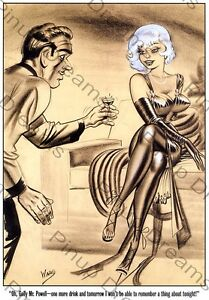 Classic 1940s//50s Vintage Art of Bill Ward Pin-up Poster re-print A4 A3,